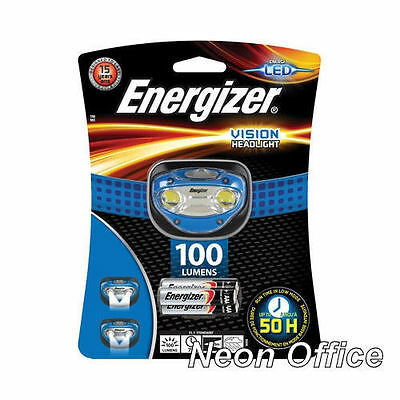 Energizer Vision 100 Lumens Super Bright Headlight & 3x AAA Batteries