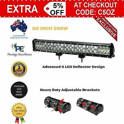 New 20 Inch LED Light Bar Flood Spot Combo Work Offroad 4WD Driving Lamp Truck