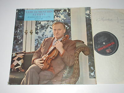 LP/YEHUDI MENUHIN AT FIFTY/His Masters Voivs HQM 1018 FOC