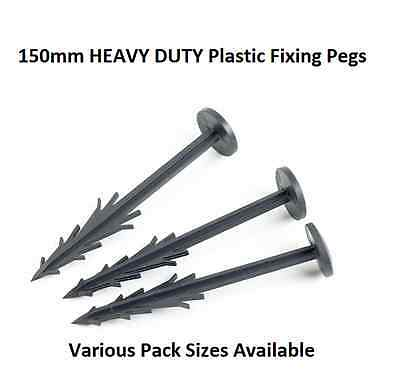 Weed Control Fabric FIXING PEGS Heavy Duty Plastic Geotextile Membrane Pins