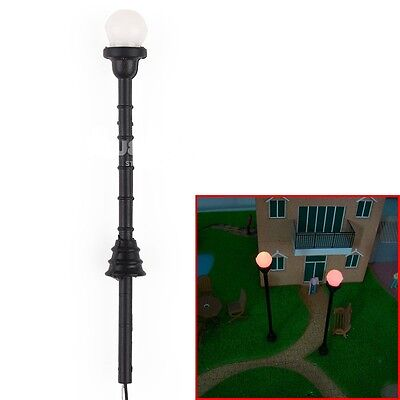10pcs Adjustable Single Head Antique Park Street Lamp Lights Lamppost HO/TT 7cm