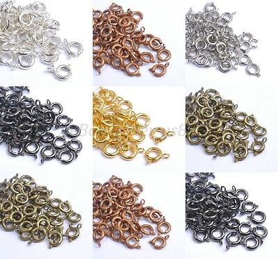 40pcs Gold & Silver Plated Copper , BOLT RING CLASPS - Choose - 6MM & 7MM