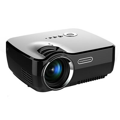 GP70UP Projector home Full HD 1080P LED Projector Theater Basic Version Black