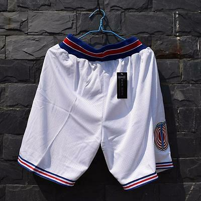 Space Jam Space Jam Tune Squad Basketball Short Stitched All Sewn-White S-XXL