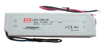 MEAN WELL LPV-100-24 24V IP67 LED Driver Transformer - Water Resistant