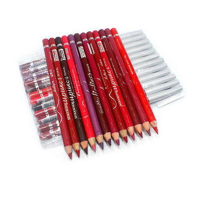 Genuine Menow Lip makeup waterproof lipliner pencil 12 pieces Set (P24)