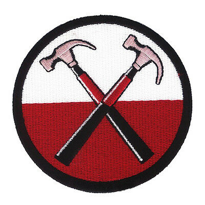 Pink Floyd Crossed Hammers - Embroidered Patch with Hook & Loop - The Wall