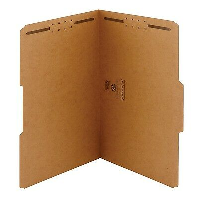 Smead Fastener Folder Legal Two 2-Inch K Style #1 and #3 Fasteners 1/3 Cu... New