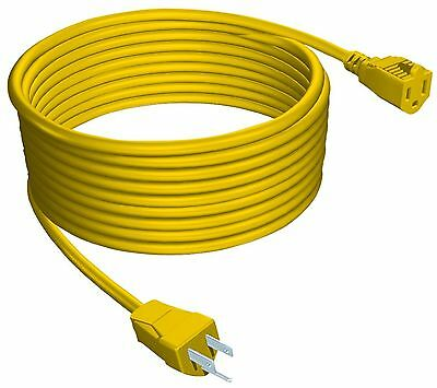 STANLEY 33997 Outdoor Extension Cord 100-Feet Yellow New