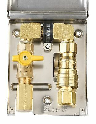 Burnaby Manufacturing Ltd BBQ-SS-50 Gas Outlet Box with 1/2-Inch Inlet 1/... New