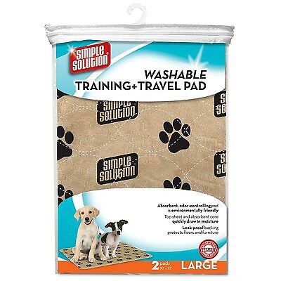 Simple Solution 2-Pack Washable Training and Travel Pad Large New