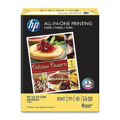 HP Everyday Papers HP All-in-One Printing Paper 22-Pound 97 Bright 8.5 by... New