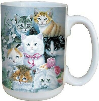 Tree-Free Greetings 79031 Cuddly Kittens Collectible Art Ceramic Mug with... New