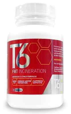 T6 Fat Burner, Slimming Pills Diet, Weight Loss Tablets 60 Capsules