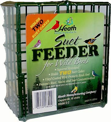 Heath Outdoor Products S-2 Double Suet Feeder New