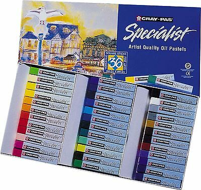 Cray-Pas Sakura ESP36 Specialist Assorted Colors Oil Pastel Set Multicolo... New