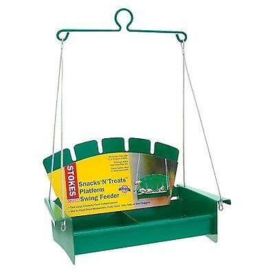 Stokes Select Snacks'N'Treats Platform Swing Bird Feeder With Two Food Co... New