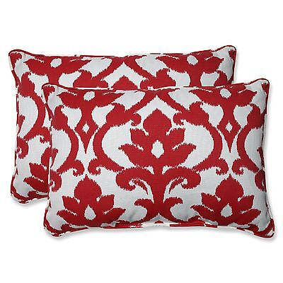 Pillow Perfect Outdoor Bosco Cherry Over-Sized Rectangular Throw Pillow S... New
