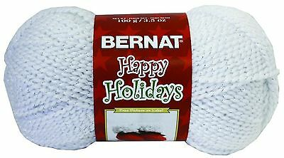 Spinrite Happy Holidays Sparkle Yarn Twinkly White New