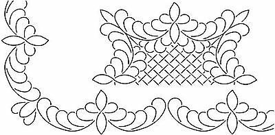 Sten Source Quilt Stencils by Barbara Chainey 3-Inch Scallop Feather and ... New