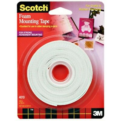 3M Scotch 4013 1/2-Inch by 150-Inch Mounting Tape Clear New
