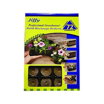 Plantation Products Llc Jiffy J3R72 Peat Pellet Refill Tray 72 for No.272 New
