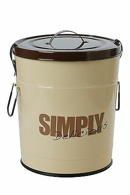 """One for Pets 1106-BR-L """"Simply Delicious"""" 33 lbs/15kg Food Can Brown New"""