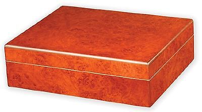 Quality Importers The Traveler Humidor Holds 20 Cigars Burl New