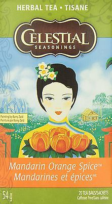 Celestial Seasonings Herb Tea Mandarin Orange Spice 20-count (Pack of 6) New