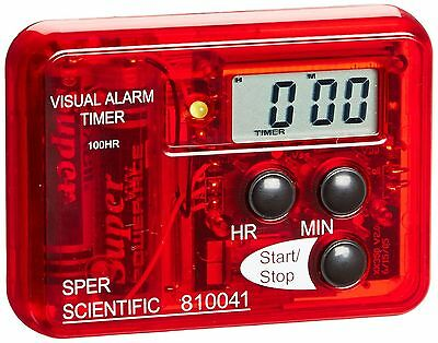 Sper Scientific 810041 Compact Visual and Audible Alarm Timer New