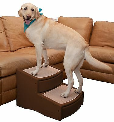 Pet Gear Easy Step II Pet Stairs Extra Wide Chocolate New