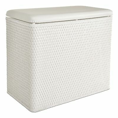 LaMont Home Carter Bench Hamper White New