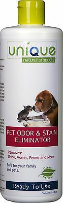 Unique Natural Products Pet Odor and Stain Eliminator Ready to Use 24-Ounce New