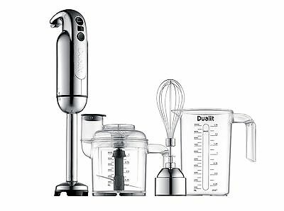 Dualit Immersion Blender with Accessory Kit Chrome New