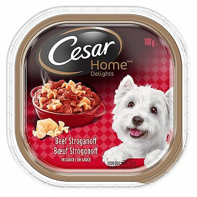 Cesar Home Delights Beef Stroganoff Food for Dogs 24 Pack/100g New