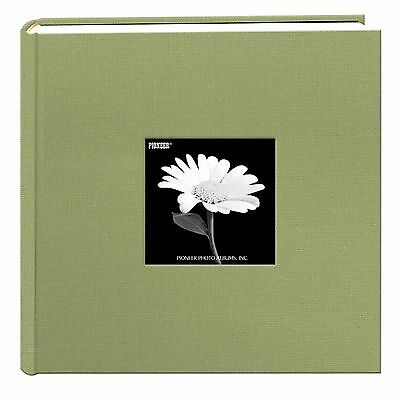Pioneer 200 Pocket Fabric Frame Cover Photo Album Sage Green New
