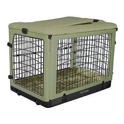 Pet Gear The Other Door Steel Crate with Plush Bolster Bed for Cats and D... New