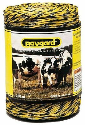 Baygard 00121 Electric Fence Yellow/Black Wire - 656 -Feet 1 New