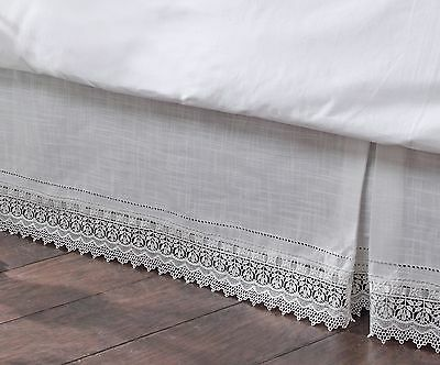 Stylemaster Renaissance Home Fashion Sophia Dust Ruffle/Bed Skirt King Iv... New