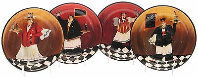 Certified International Bistro 9-Inch Soup/Pasta Bowl Set of 4 New