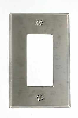 Leviton SSJ26-40 1-Gang 1-Decora Stainless Steel Midway Size Wallplate (S... New