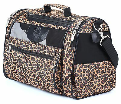 Sherpa 56230 Cat Tote Pet Carrier Leopard Print New