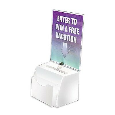 Azar Displays 206776 Small Molded Suggestion Box with Pocket Lock and Key... New