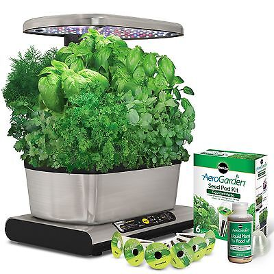 Miracle-Gro AeroGarden Harvest Elite with Gourmet Herb Seed Pod Kit New