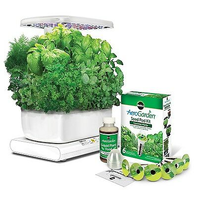 Miracle-Gro AeroGarden Harvest with Gourmet Herb Seed Pod Kit White New
