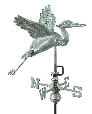 Good Directions 8805V1R Blue Heron Cottage Weathervane Blue Verde Copper ... New