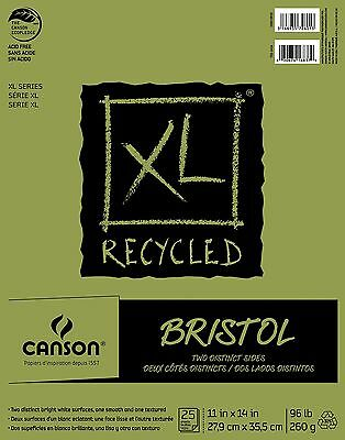 Pro-Art Canson 11-Inch by 14-Inch Extra Long Recycled Bristol Paper Pad 2... New