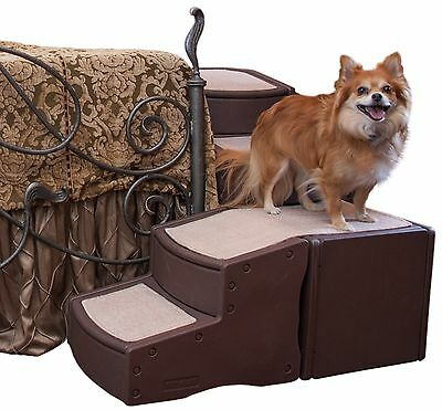 Pet Gear Easy Step Bed Stair for Pets Wrap Around 4-Step for Pets upto 75... New