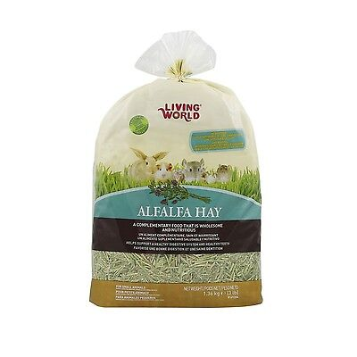 Living World 61204 Alfalfa Hay Extra Large Size 1.36kg (3-Pound) New