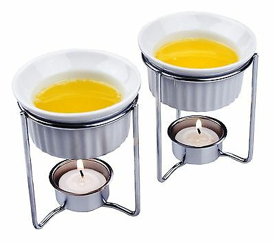 Fox Run 5590 Ceramic Butter Warmers Set of Two New